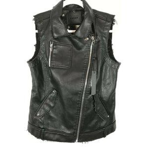 Blank NYC NWT Moto Vest Mouth Off S Faux Leather